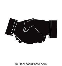Handshake. E-commerce single icon in black style vector symbol stock illustration web.