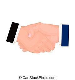 Handshake. E-commerce single icon in cartoon style vector symbol stock illustration web.