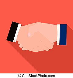 Handshake. E-commerce single icon in flat style vector symbol stock illustration web.