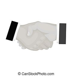 Handshake. E-commerce single icon in monochrome style vector symbol stock illustration web.