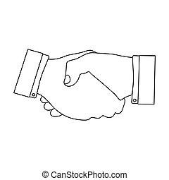 Handshake. E-commerce single icon in outline style vector symbol stock illustration web.