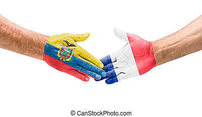 Handshake Ecuador and France