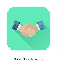 Handshake flat icon