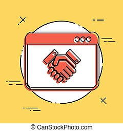 Handshake for web business