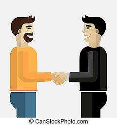 handshake., geschaeftswelt