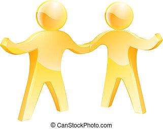 Handshake gold men
