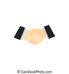 Handshake icon in flat style
