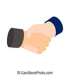 Handshake icon, isometric 3d style