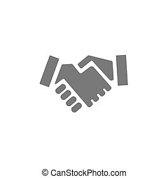 Handshake icon on a white background