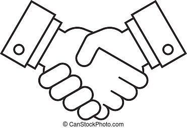Handshake icon, partnership concept