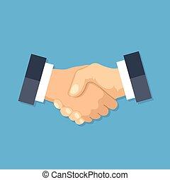 Handshake icon. Shake hands, agreement, good deal,...