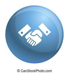 Handshake icon, simple style