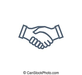 Handshake Icon Symbol of Collaboration Partnership