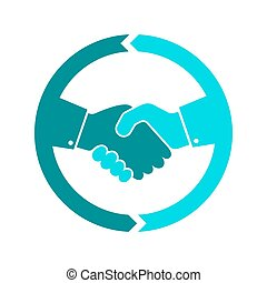Handshake icon. Vector illustration.
