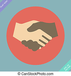 Handshake icon - vector illustration.
