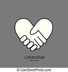 Handshake in form of heart 2