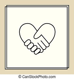 Handshake in form of heart 3