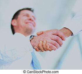 handshake in office.