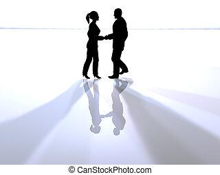 Handshake in Spotlight