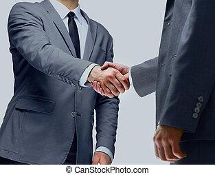 handshake isolated on white,