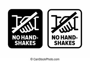 """handshake"""", """"no, infektion, förhindrande, fördelning"""