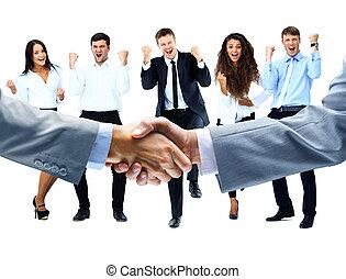 handshake on a background