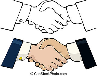 Handshake on a white background vector illustration