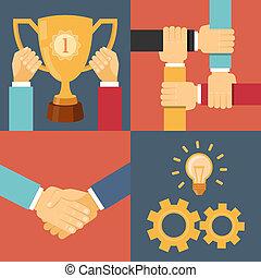 handshake partnership victory
