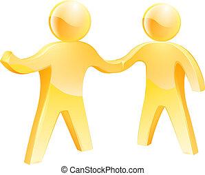 Handshake people