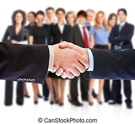 handshake., pessoas negócio, meeting.