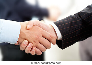 Handshake - Photo of handshake of business partners after...