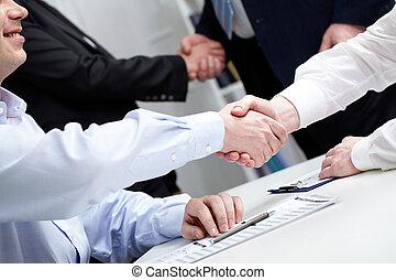 Handshake - Business people shaking hands
