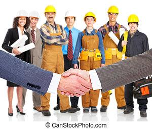 handshake., povolání
