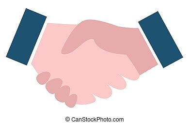 Handshake Sign, Business Collaboration Vector
