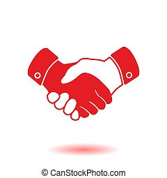Handshake sign icon. Successful business symbol. Flat design...