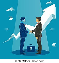Handshake. Successful deal. Business concept vector illustration