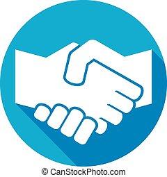 handshake symbol flat icon