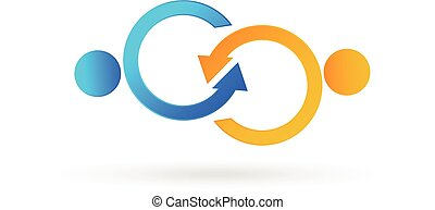 Handshake symbolic business logo