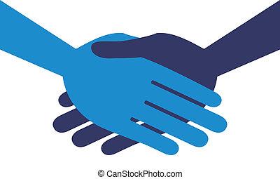Handshake symmetry.