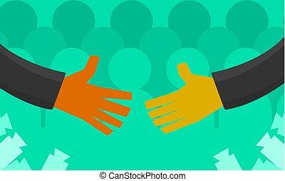 Handshake Televised Cartoon