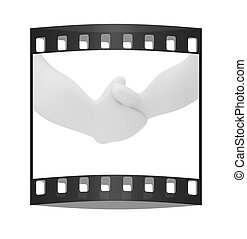 Handshake. The film strip