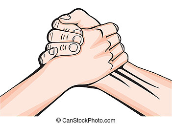 handshake two male hands