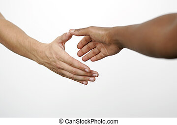 Handshake - Two people doing handshake, isolated