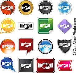Handshake Variety Set - Handshake variety set isolated on a...