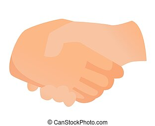 Handshake vector cartoon illustration.