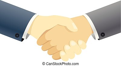 Handshake vector concept. Illustration isolated on white background