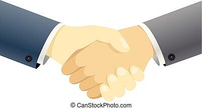 Handshake vector concept. Illustration isolated on white background