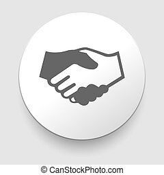 Handshake vector icon - business concept