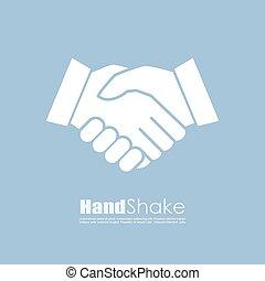 Handshake vector icon