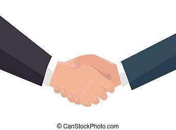 Handshake Vector Illustration in Flat Design.